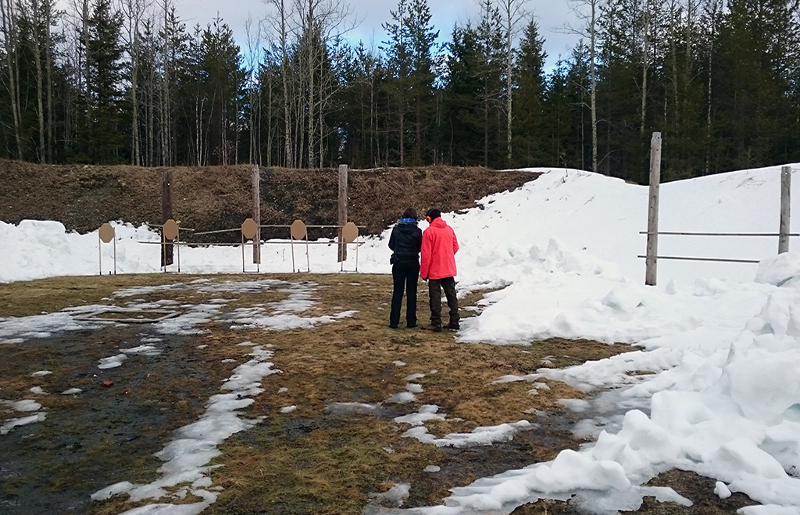 Kurssin ampumaharjoitukset 15.4.2016.
