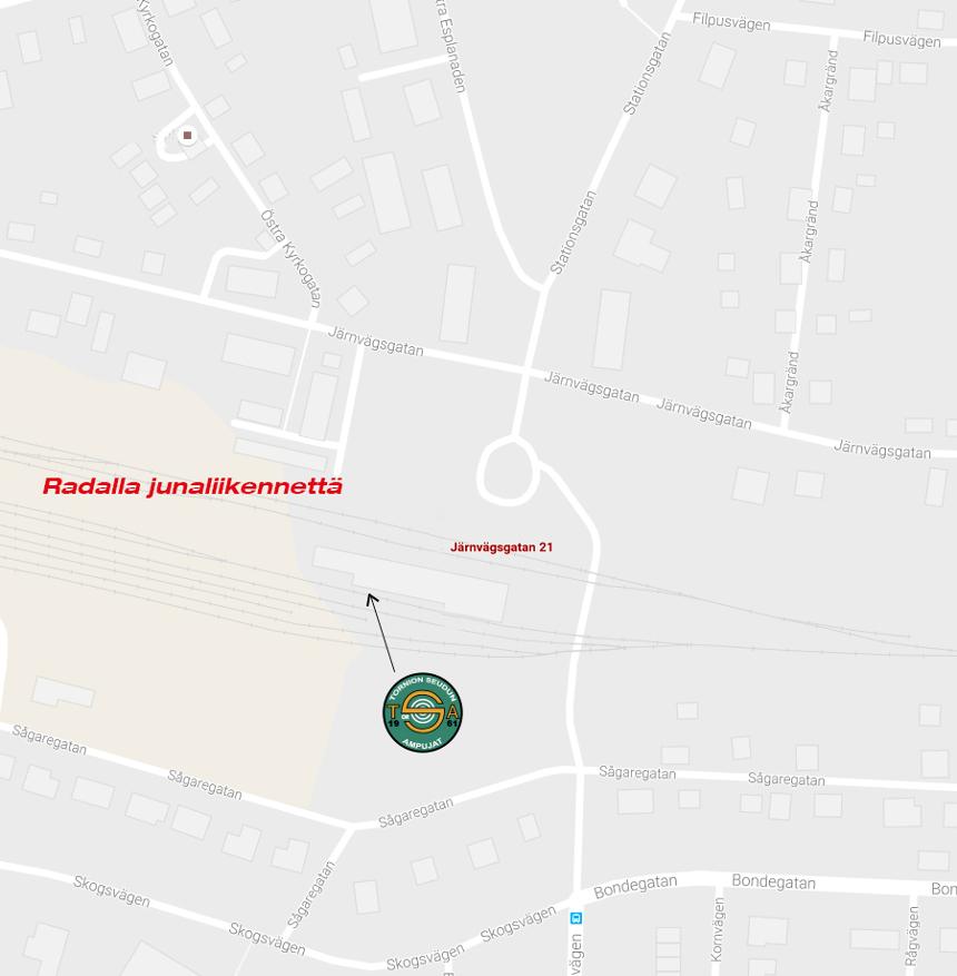 Harjoituspaikkana toimii Haaparannan nuorisotila (Järnvägsgatan 21, 953 37 Haparanda). Tilaan pääsee helpoiten rautatieaseman takaovesta.