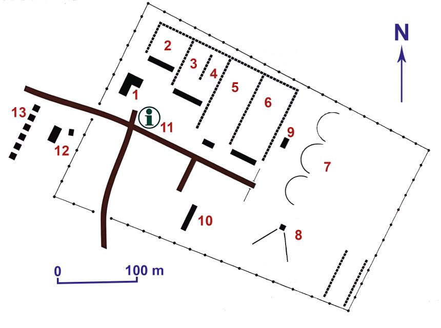 Kuvassa Laivakankaan Ampumaurheilukeskuksen opastekartta